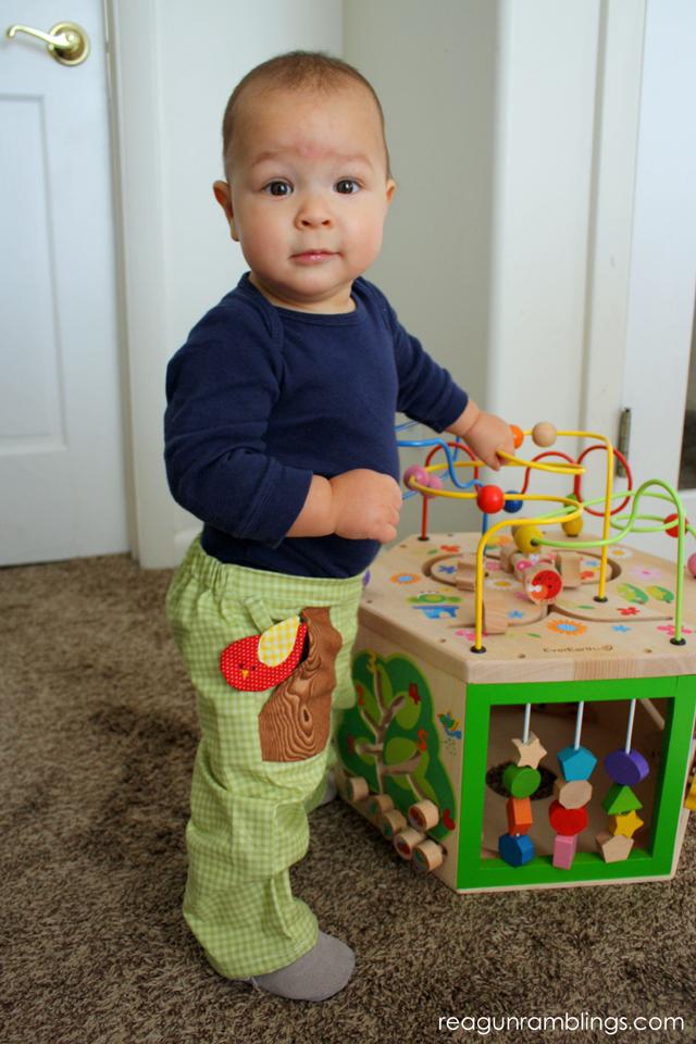 Flat front baby pants pattern - Rae Gun Ramblings