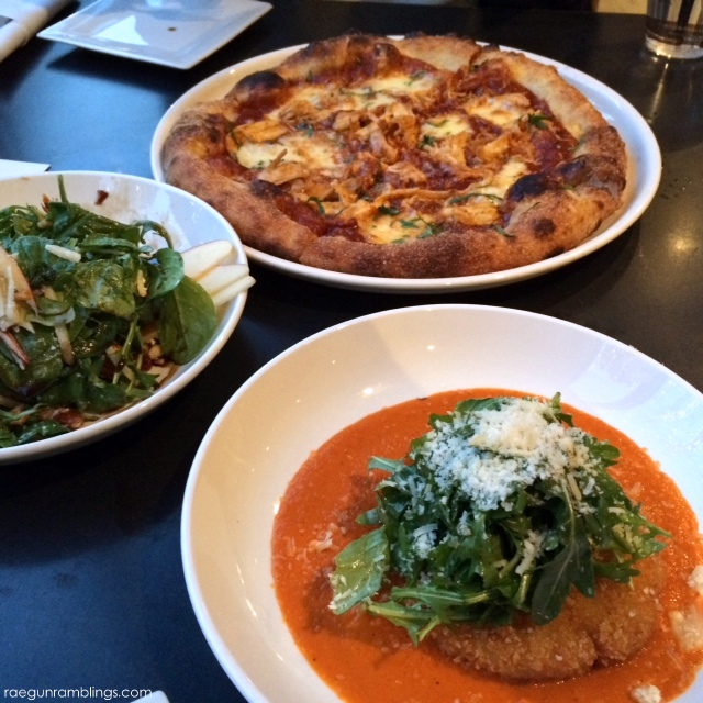 From Scratch Apple salad, risotto cake and delicious pizza in Salt Lake City Utah