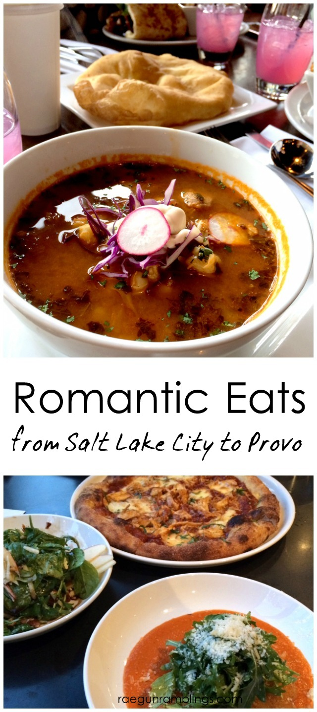 Romantic Restaurants to eat at from Salt Lake City to Provo Utah