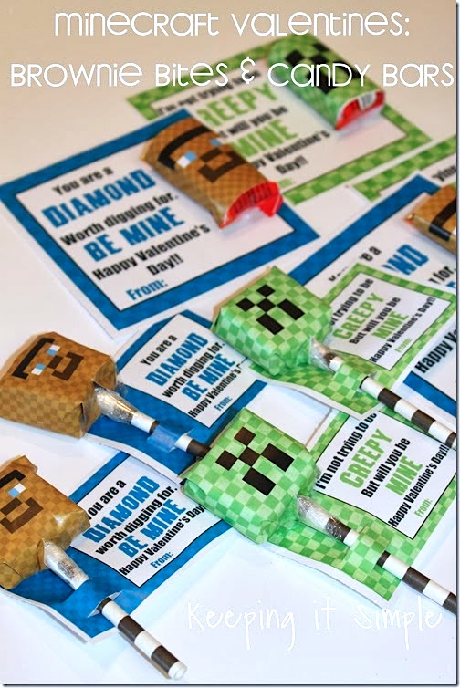 How to make Minecraft valentines with printable.