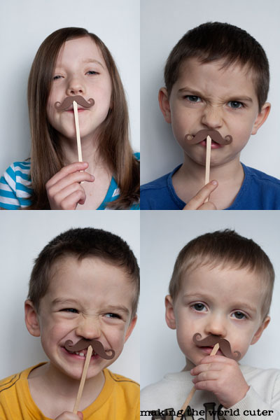 Mustaches and Kissy lip photo prop valentines, such a cute idea!