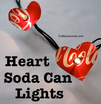 turn a soda can into a cute heart light decoration