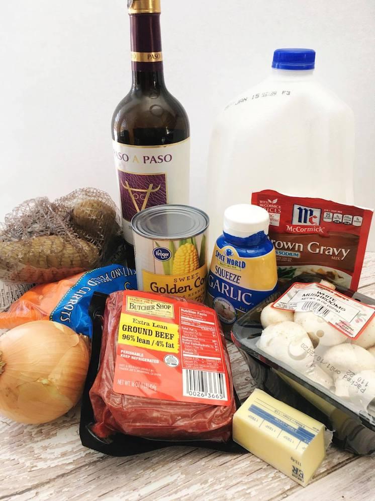 Shepherd's Pie recipe ingredients list
