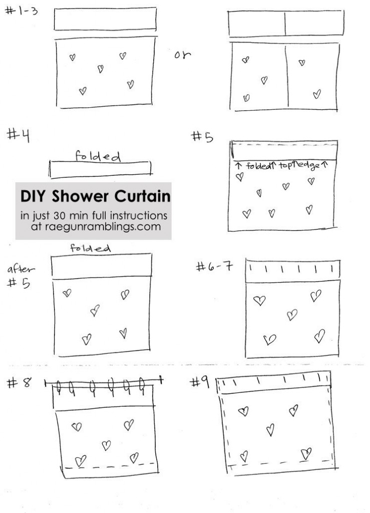 quick and easy 30 minute shower curtain simple sewing tutorial
