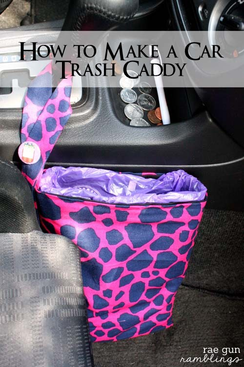 How to make a travel trash bag tutorial