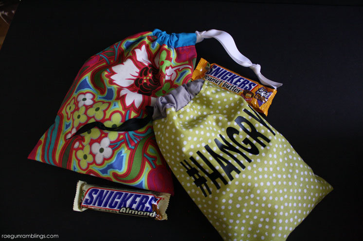 Quick and easy bag sewing tutorial. Great for gifts, snacks, and more.