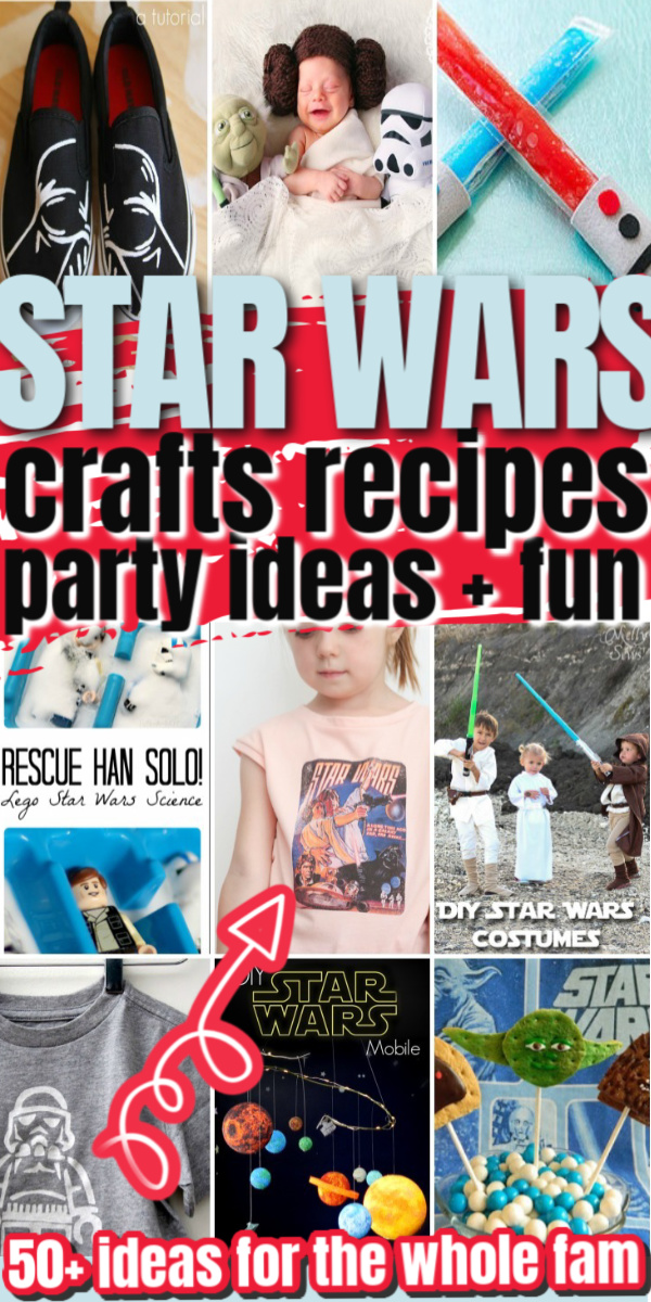 So many awesome DIY Star Wars Crafts kids adults recipes party ideas and more geeky fun