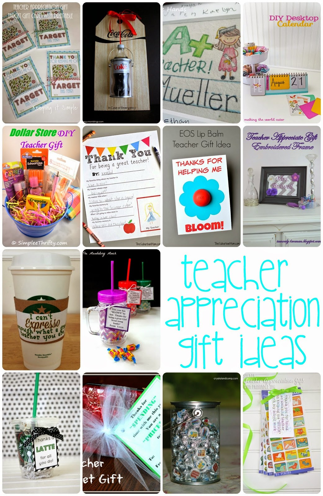 DIY Teacher Appreciation Gift Ideas and Crafts