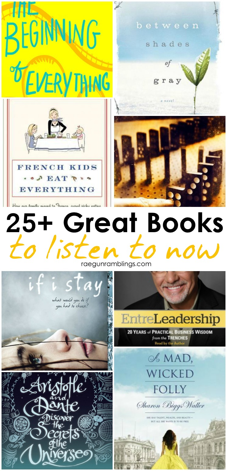 great list of audiobooks to listen too. perfect books to read for family road trips