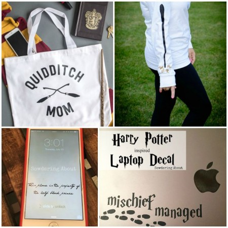 Free Harry Potter inspired printables, cell phone backgrounds, craft tutorials and more