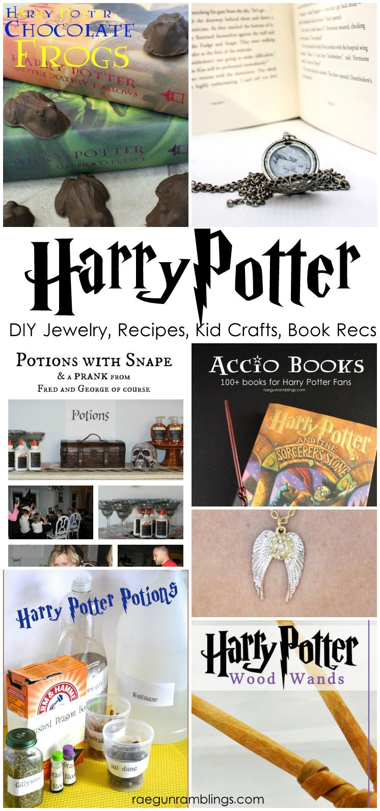 Great Harry Potter projects, party ideas, book recommendations, and craft tutorials
