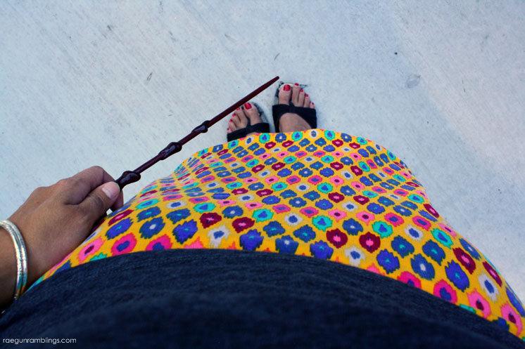DIY Ikat knit skirt