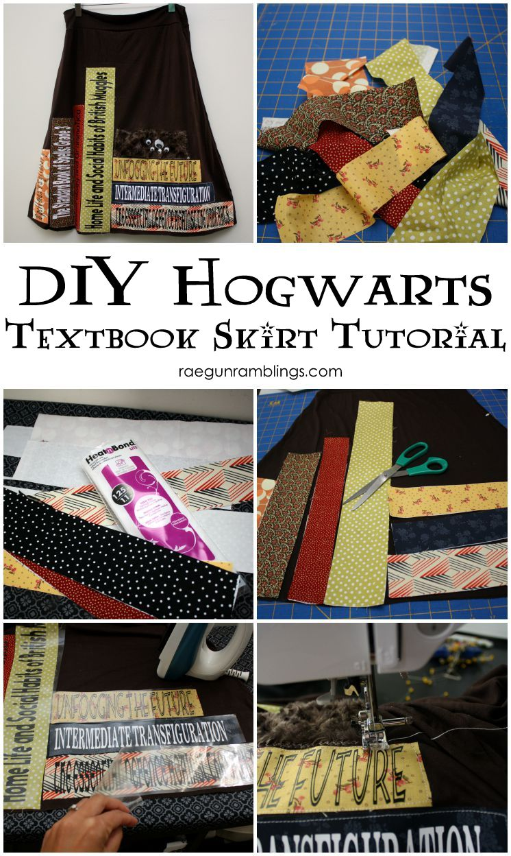 Love this tutorial for making a cute booknerd Harry Potter textbook skirt. Great DIY tutorial
