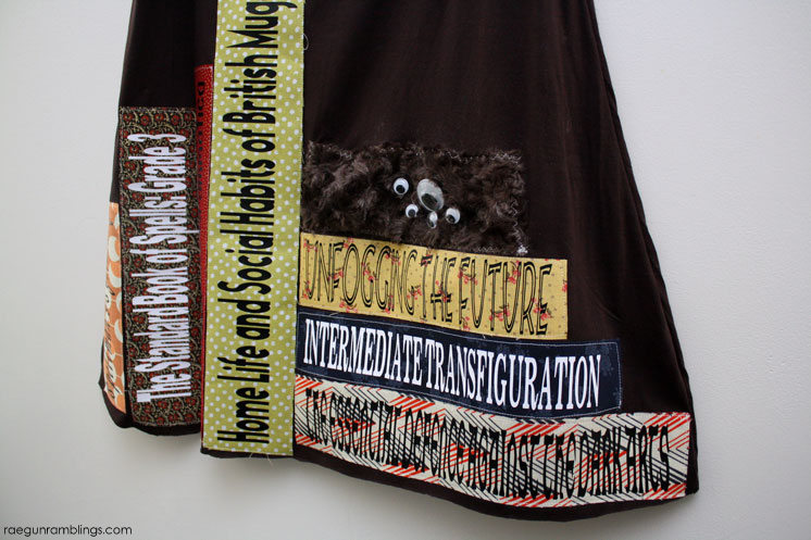 ahh Harry Potter books! Hogwarts textbook skirt diy tutorial