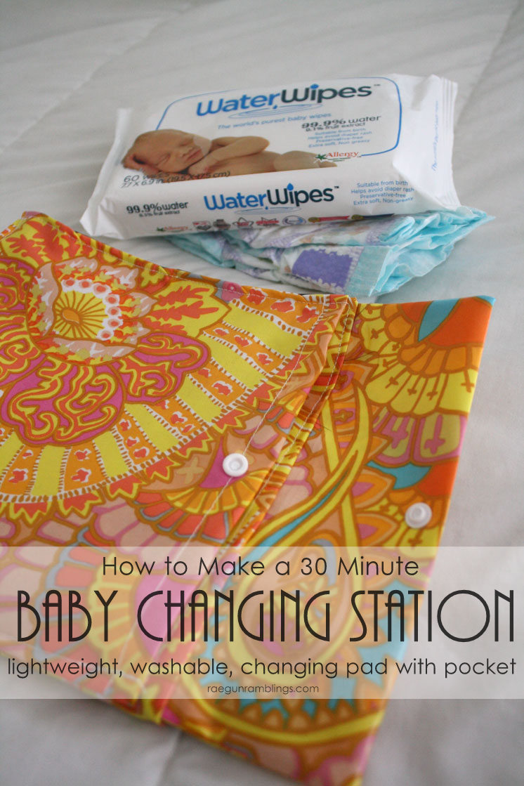 30 DIY Minute Baby Changing Station tutorial. Great easy sewing project for baby.