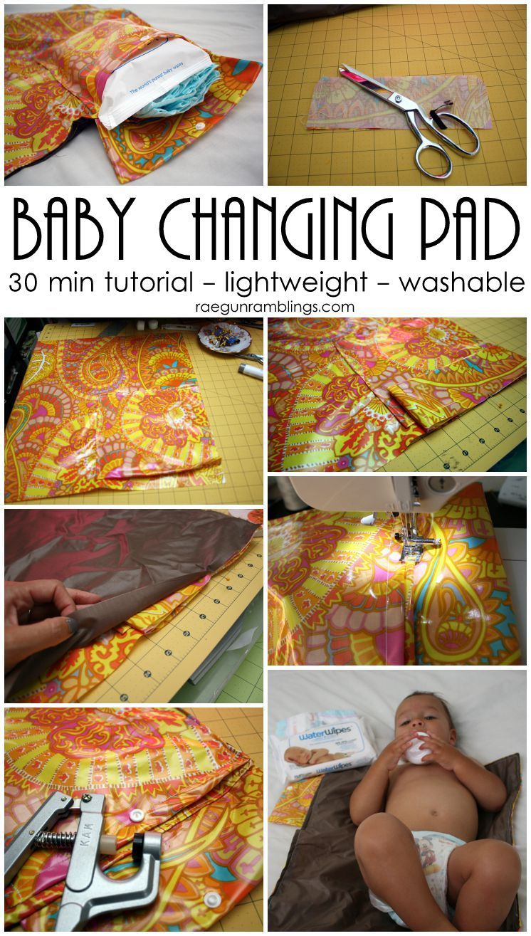 easy DIY baby changing station, lightweight and washable 30 minute tutorial