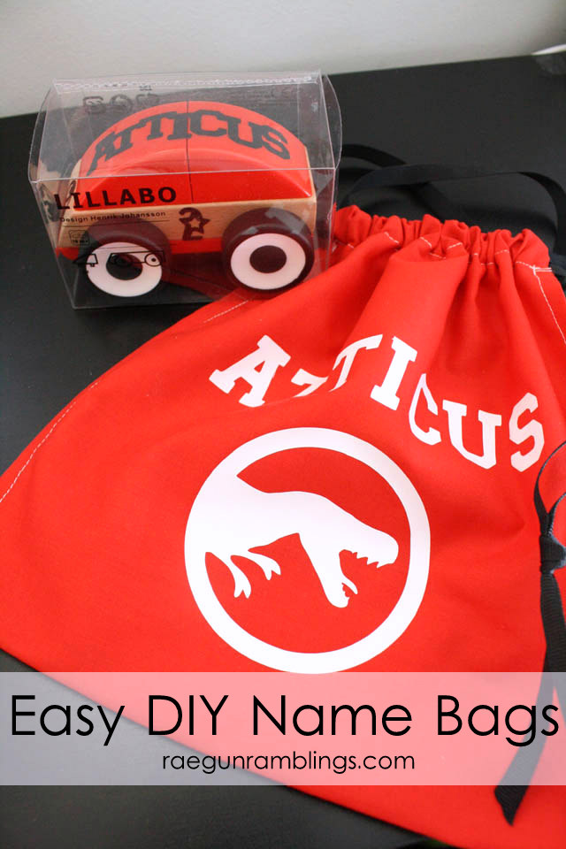 Fun gift idea. Personalized gift bag. QUick and easy diy tutorial