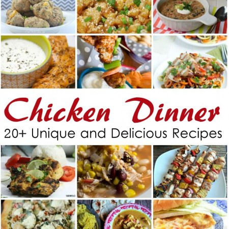 LOTS of yummy and unique chicken dinner recipe ideas