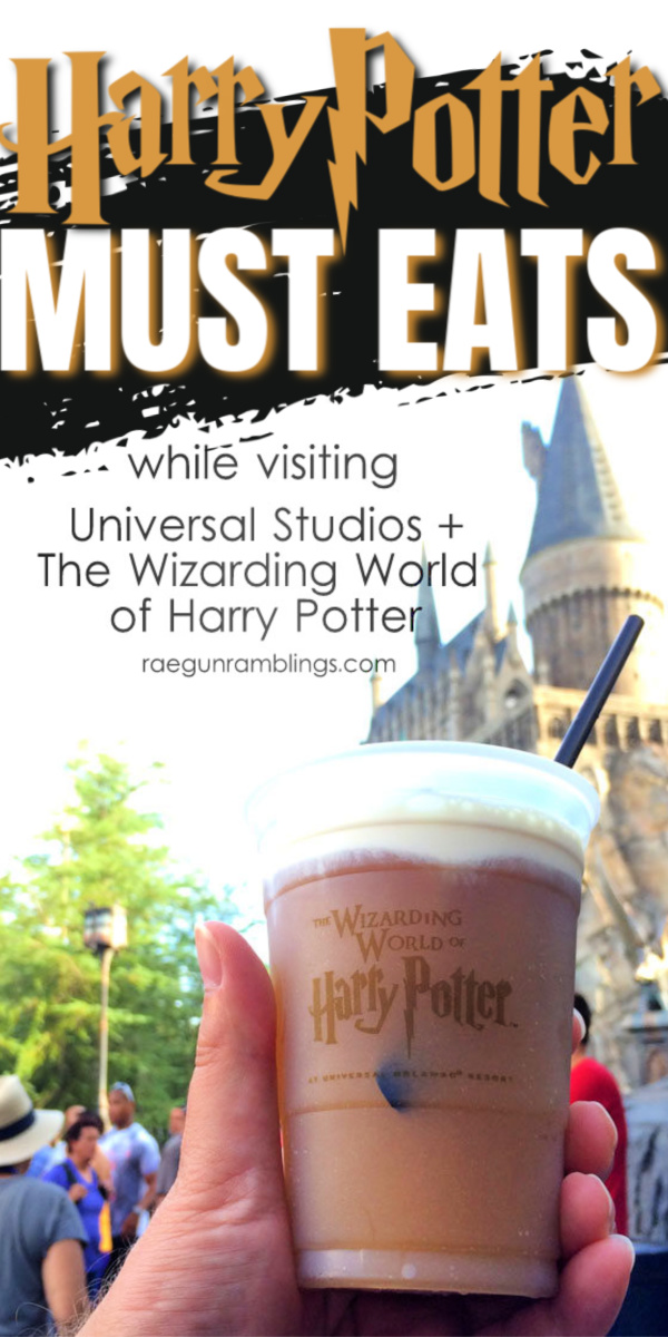 Great list of must eat food at the Wizarding World of Harry Potter and Universal Studios. Perfect for the next family vacation.