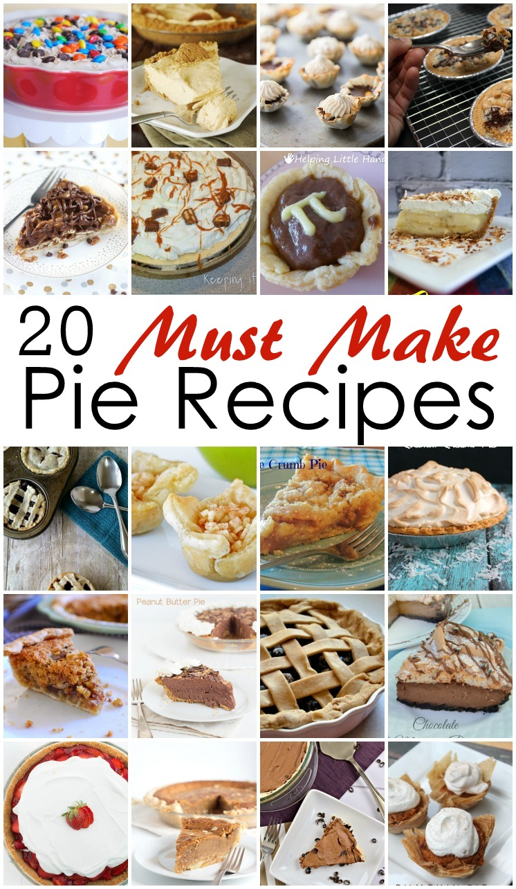 Traditional and unique pie recipes perfect for Thanksgiving, Christmas, or Pi day. Mini pies, full size pies and more.