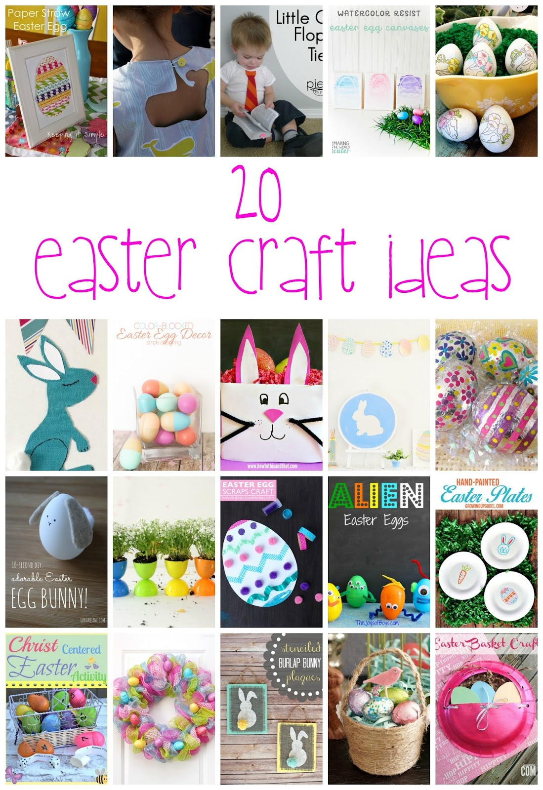 20+ Easter Craft Ideas
