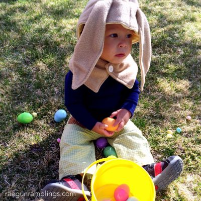 Easy DIY Bunny Costume and Easter Outfits