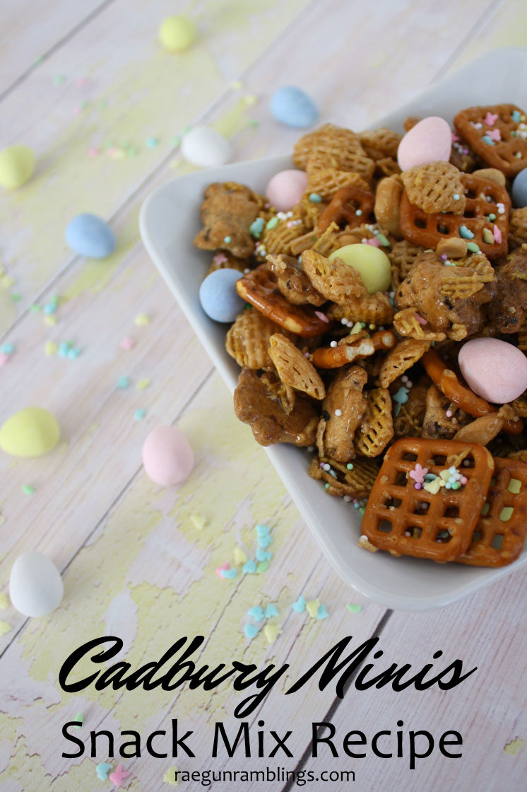 It's a keeper we love this chex snack mix recipe. Great for any holiday just swap out the cadbury mini eggs for seasonal candies!