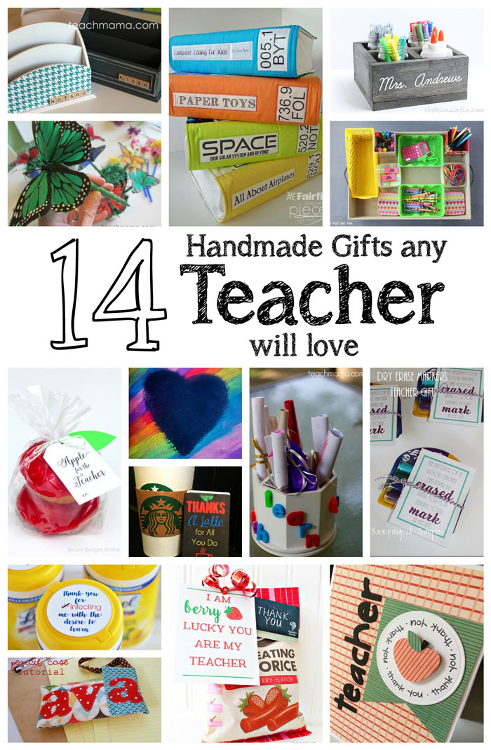 DIY teacher gifts. Great tutorials for presents teachers will love
