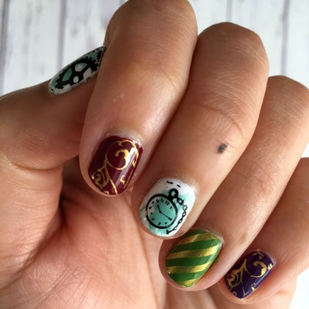 Amazing Alice through the looking glass inspired nail art. Full tutorial and instructions.