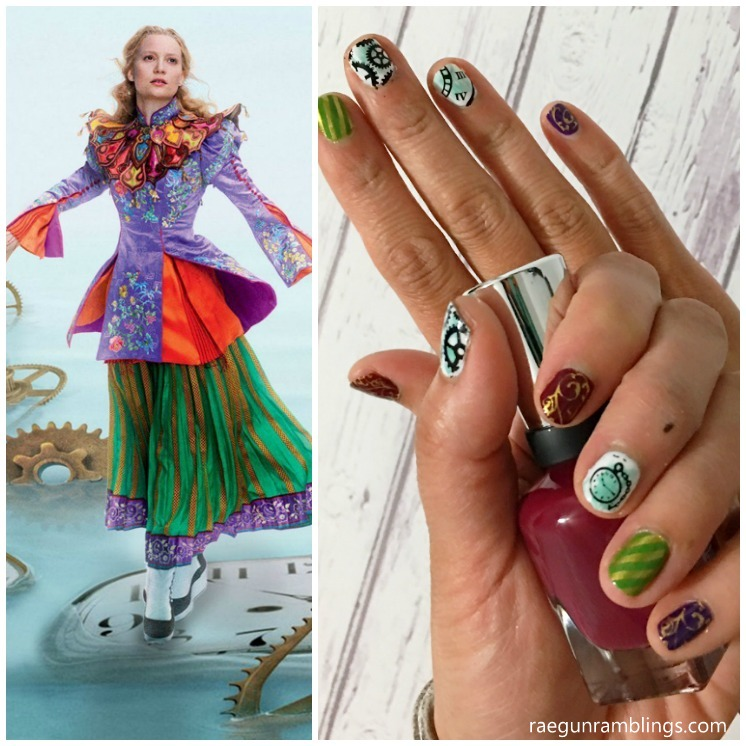 Alice Through the Looking Glass Nails. Great step by step instructions to how to do awesome nail stamping at home.