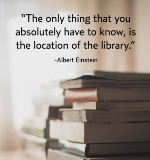 The only thing that you absolutely have to know is the location of the library. And more book memes