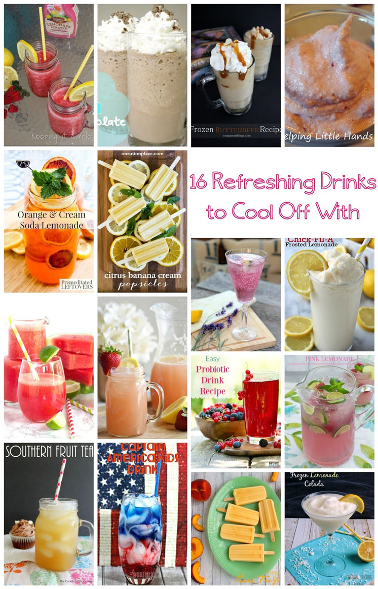 Beat the heat with 16 refreshing drink recipes. Great Summer drinks