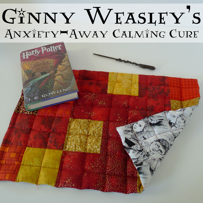Fabulous Harry Potter inspired weighted blanket pad. DIY sewing tutorial.