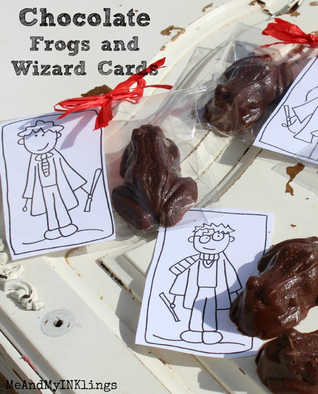 How to make Harry Potter Chocolate Frogs and FREE printable Wizard Coloring Cards