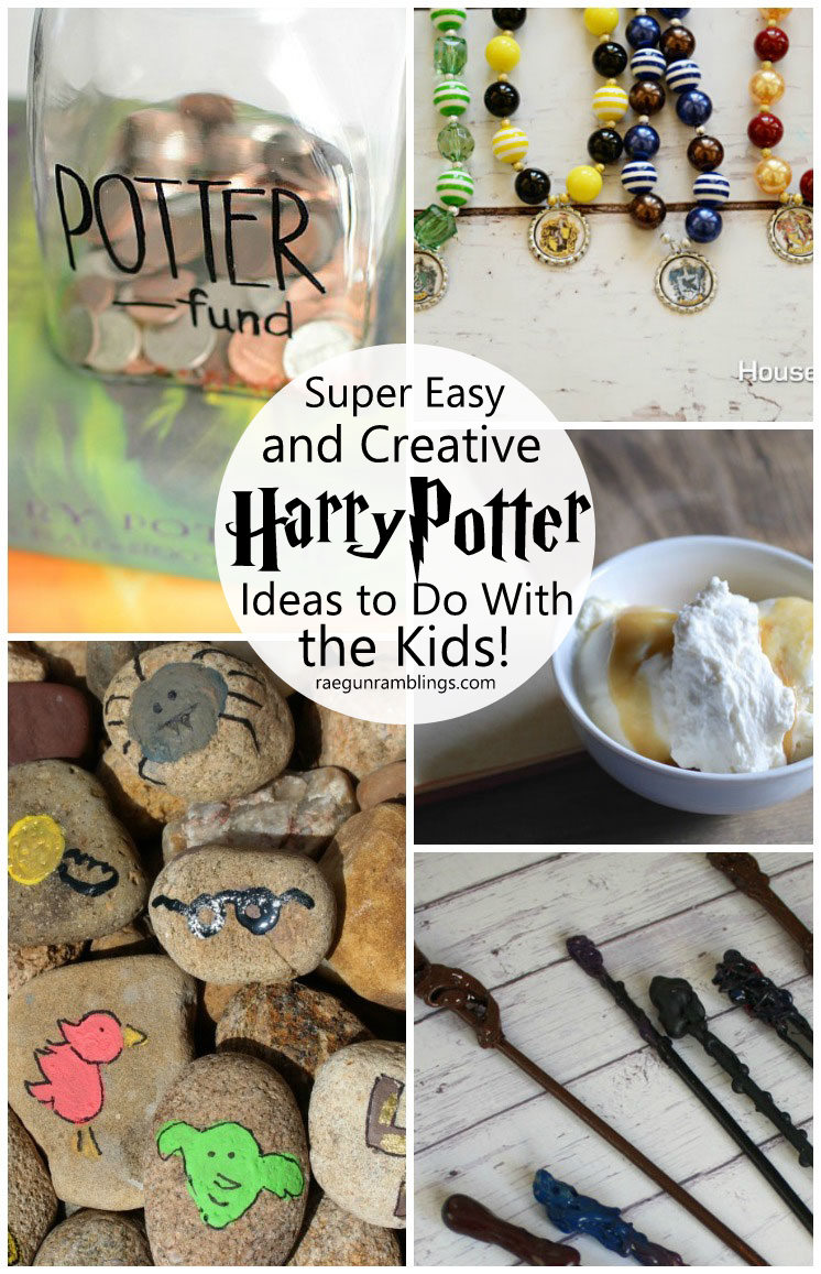 Great kid activities inspired by Harry Potter. Love these boredom busters