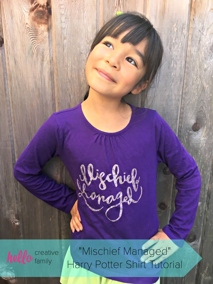 Super cute Mischief Managed shirt with free downloadable image