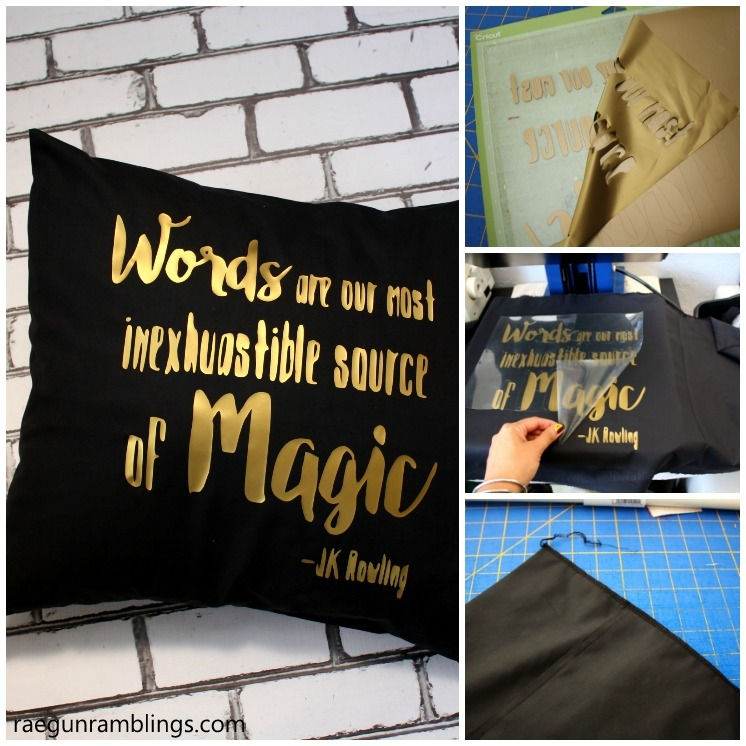 DIY quote pillow case sewing tutorial