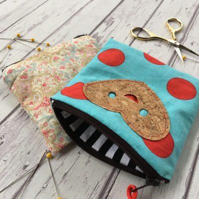 15 Minute Zipper Pouch Tutorial and Cork Fabric