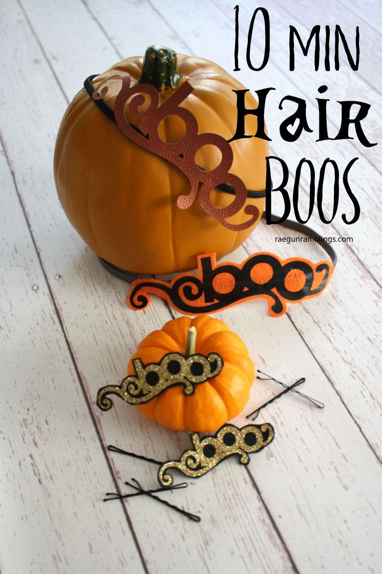 3 cute hair accessory tutorials that can be tweaked for any occasion not just Halloween. 10 minute craft tutorials