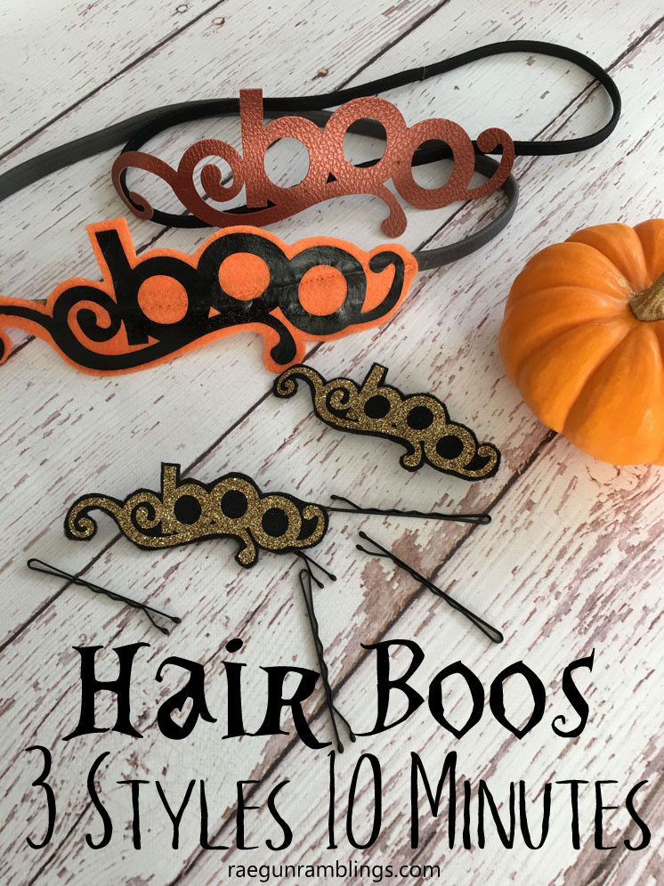 10 minute DIY Halloween hair bands and hair clips