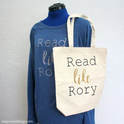 Read Like Rory Shirt and Bag and More Gilmore Girls Crafts and Recipes