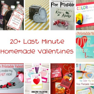 20 Last Minute Valentines and Block Party