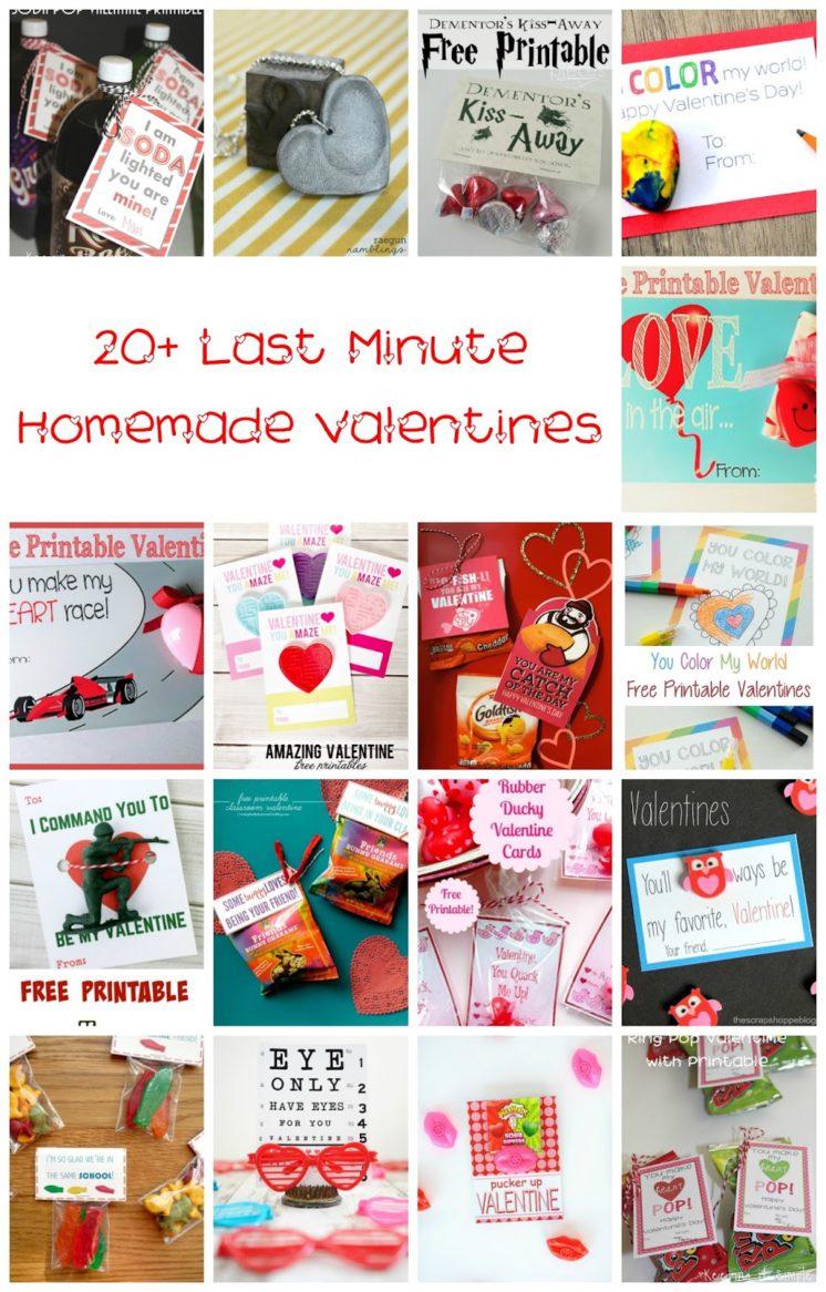 20 last minute valentines great DIY printables