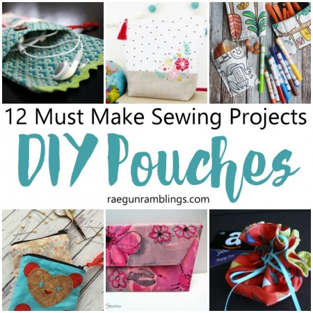 DIY Pouch Tutorials Easy sewing projects