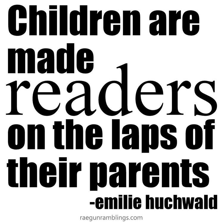 children are made readers on the laps of their parents emilie huchwald quote and great book bag tutorial with kids book box review