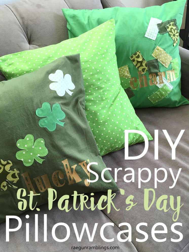 quick st. patrick's day pillowcase sewing tutorial