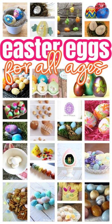 boxes of decorated Easter eggs