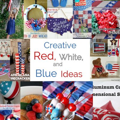 Red While and Blue Crafts Recipes and Block Party