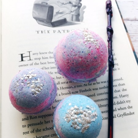 DIY Expecto Patronum Harry Potter Bath Bombs