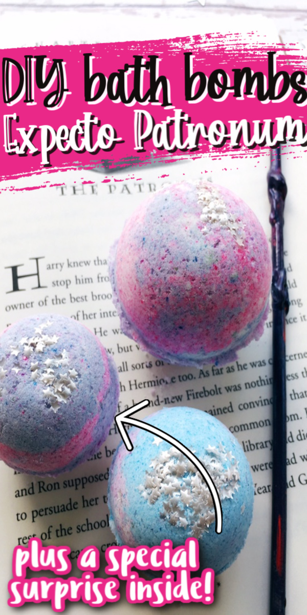 How to make fun DIY Harry Potter patronus inspired bath bombs with a surprise inside.